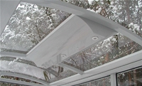 Solar lighting in weather shelters