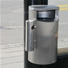 Litter bin Siti, 60-litres in stainless steel with ashtray, Saltholmen