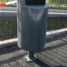 Litter bin Siti with metal plate